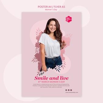 Plantilla de póster del día de la mujer