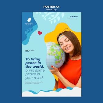 Plantilla de póster para el día mundial de la paz