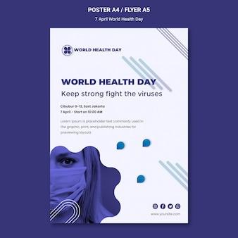 Plantilla de póster del día mundial de la salud