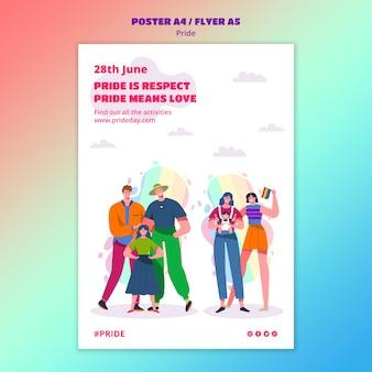 Plantilla de póster del día del orgullo
