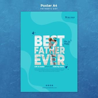 Plantilla de póster con el día del padre