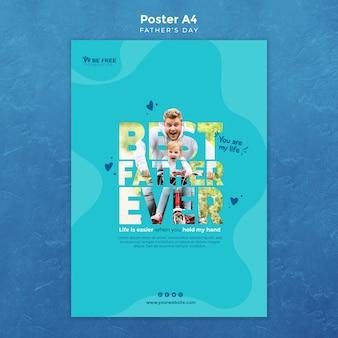 Plantilla de póster con diseño del día del padre