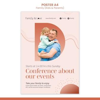 Plantilla de póster de diseño familiar