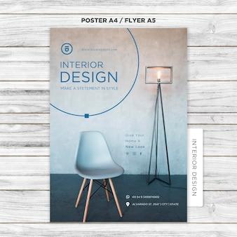 Plantilla de póster de diseño de interiores