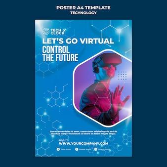 Plantilla de póster de dispositivo de realidad virtual