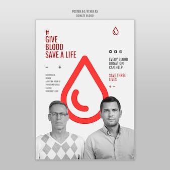Plantilla de póster de donación de sangre