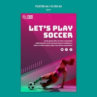 Plantilla de póster de entrenamiento de fútbol