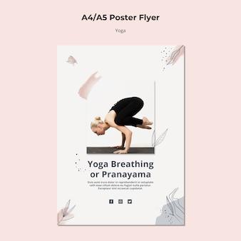 Plantilla de póster de estilo de vida de yoga