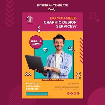 Plantilla de póster de estudio de diseño