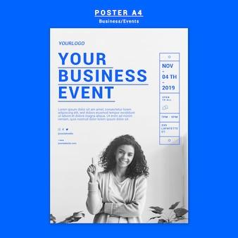Plantilla de póster de evento empresarial
