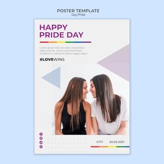 Plantilla de póster feliz día del orgullo
