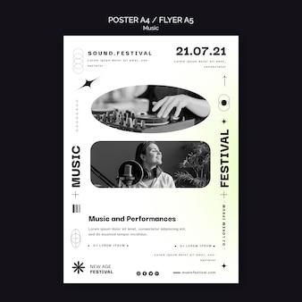 Plantilla de póster para festival de música new age