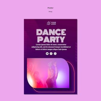Plantilla de póster de fiesta de baile
