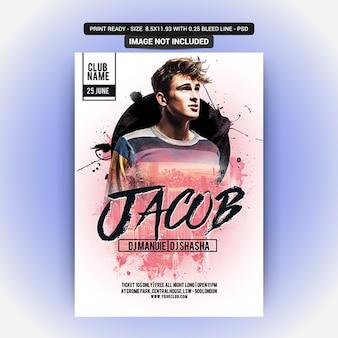 Plantilla de póster de fiesta con jacub