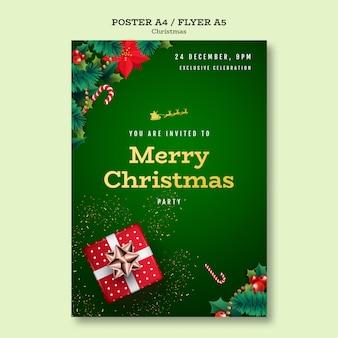 Plantilla de póster de fiesta de navidad