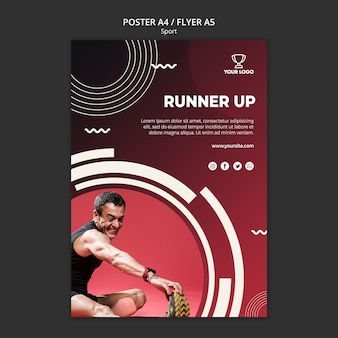 Plantilla de póster para fitness