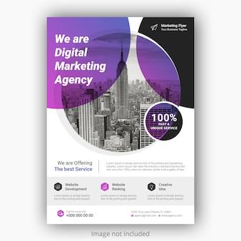 Plantilla de póster de folleto de negocios corporativos con color degradado.