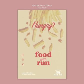 Plantilla de póster food truck