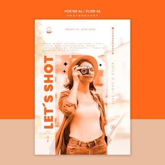 Plantilla de póster de fotografía