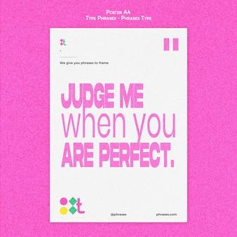 Plantilla de póster para frases tipográficas