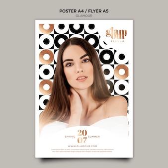 Plantilla de póster de glamour moderno