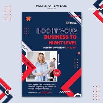 Plantilla de póster de impulso empresarial