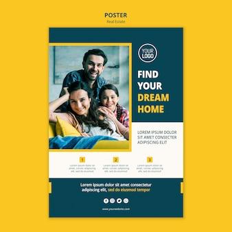 Plantilla de póster inmobiliario