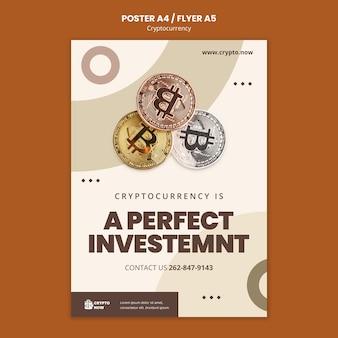 Plantilla de póster de inversión perfecta