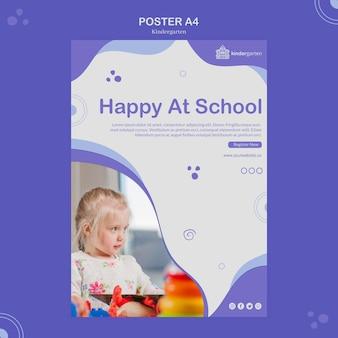 Plantilla de póster de jardín de infantes