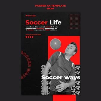 Plantilla de póster de jugador de fútbol