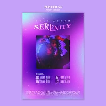 Plantilla de póster de lanzamiento de álbum