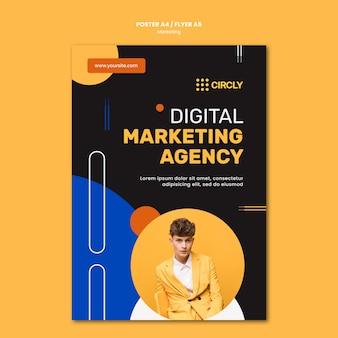 Plantilla de póster de marketing digital