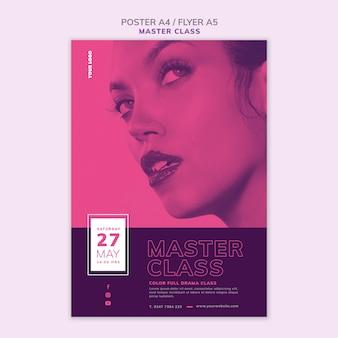Plantilla de póster para masterclass