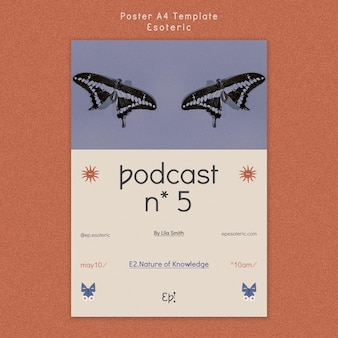 Plantilla de póster para el misticismo y el esoterismo.