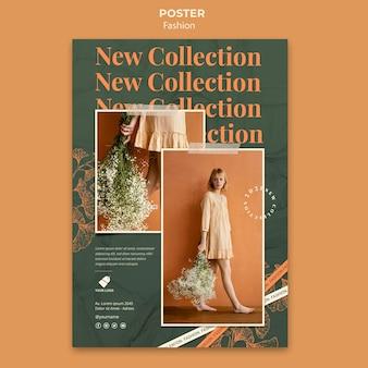 Plantilla de póster de modelo de moda