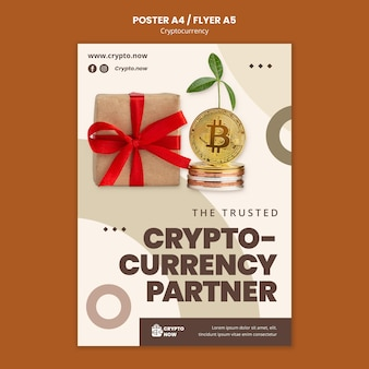 Plantilla de póster de moneda criptográfica