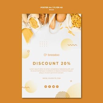 Plantilla de póster para negocio de cocina de pan