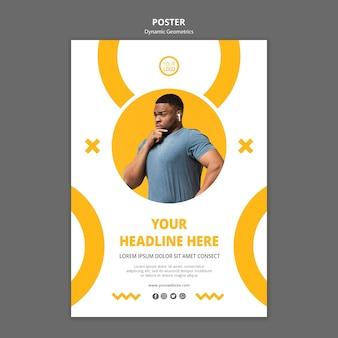 Plantilla de póster de negocios minimalista