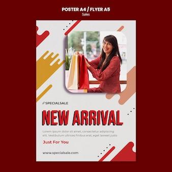 Plantilla de póster de nueva llegada