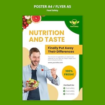 Plantilla de póster de nutrición y sabor