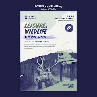 Plantilla de póster de ocio y vida silvestre