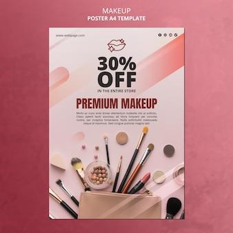 Plantilla de póster de oferta especial de maquillaje