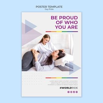 Plantilla de póster de orgullo gay