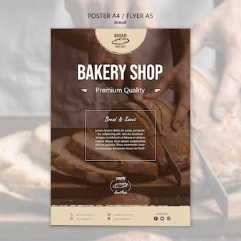 Plantilla de póster de pan