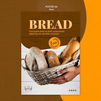 Plantilla de póster con pan