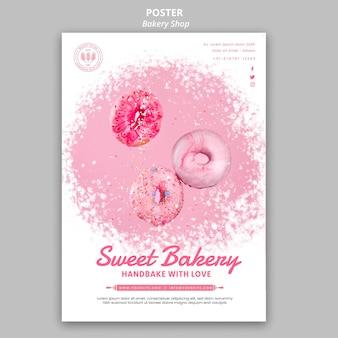 Plantilla de póster de panadería