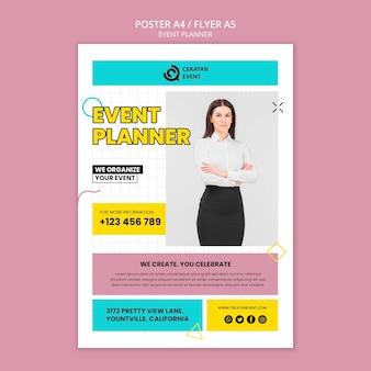 Plantilla de póster de planificación de eventos