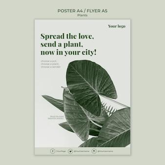 Plantilla de póster de plantas