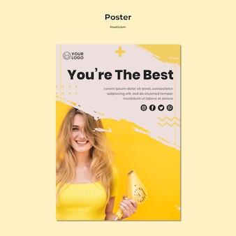 Plantilla de póster de positivismo