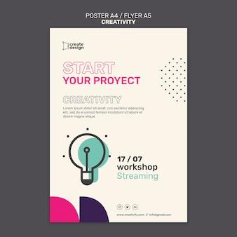 Plantilla de póster de proyecto creativo